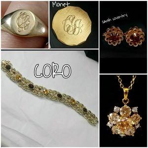 5 piece vintage MCM jewelry bundle
